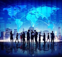 Business People Stock Exchange Finance City
