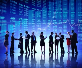 Group of Business People Stock Market Concept