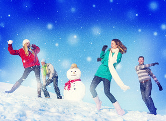 Christmas Cheerful Winter Friendship Concepts