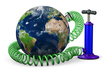 Air-pump increases planet Earth