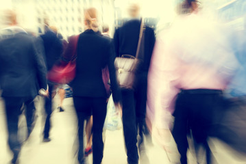 Business People Rush Hour Walking Concepts