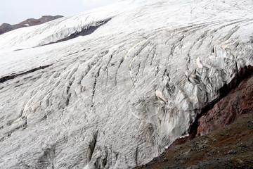 Glacier on the Mount Elbrus, Caucasus, Russia
