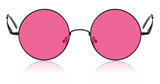 Round hippy glasses with pink lens