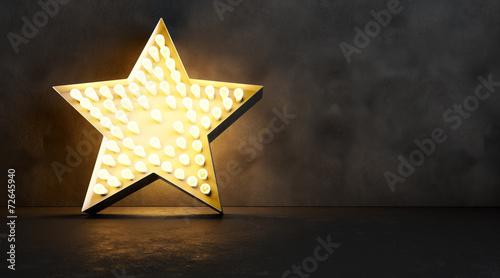 canvas print picture Edison star