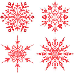 Red Snowflakes