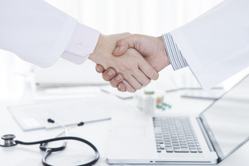 Handshake between doctor