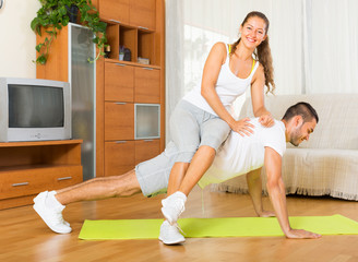 couple doing regular exercises together
