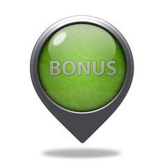 Bonus pointer icon on white background