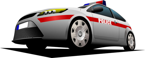 Police car. Sheriff. Vector illustration.