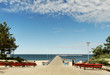 canvas print picture - Marine pier in Palanga.
