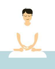 Minimal meditation illustration