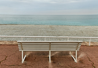 The beach of Nice.