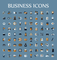 Set of web icons for business, communication and finance
