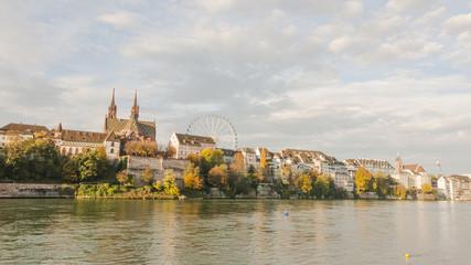 Basel, Altstadt, Rheinufer, Rhein, Münster, Herbst, Schweiz