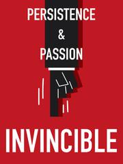 Word INVINCIBLE vector illustration