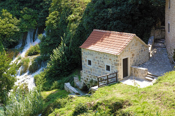 Skradinski Buk - world famous waterfall.