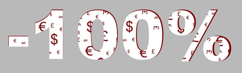 Rabat -100 %