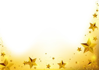 Christmas Gold Starry Background
