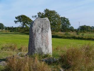 Karlevi Runestone with a runic inscription on the island Oeland