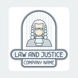 Law and justice company name concept emblem. - 72652798
