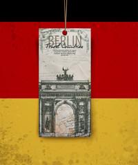 Berlin arch symbol. Hand drawn pencil sketch vector illustration