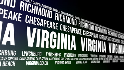 Virginia State and Major Cities Scrolling Banner