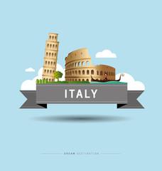 Italy, Pisa, Rome, Colosseum, travel, Landmark