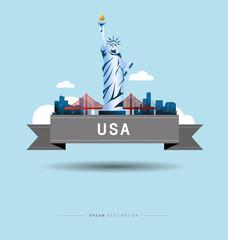 New York, Statue of Liberty, United States, travel, Landmark