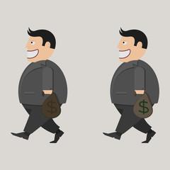 bag of money. businessman
