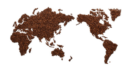 Coffee: Coffee Beans World /with clipping path