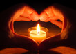 Leinwandbild Motiv love and hope