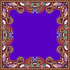 floral vintage frame in violet colour