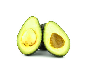 Avocado isolated on whitea