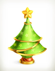 Christmas tree, vector icon
