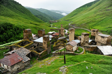 Ushguli village and ancient towers