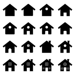 House icon set. Vector Illustration