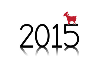 New Year 2015 of the red goat (sheep)