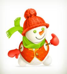 Snowman, vector icon