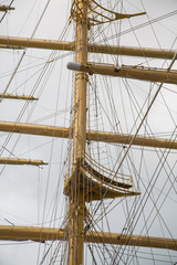 Clipper Mast and Rope Riggings
