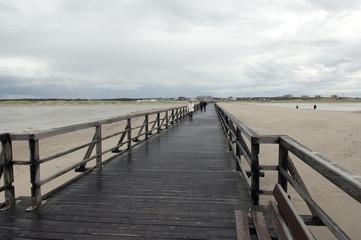 Steg, Strandleben; weg, holzsteg, Sankt Peter-Ording;