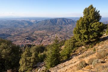 Sardegna, panorama di Oliena dal Monte Corrasi