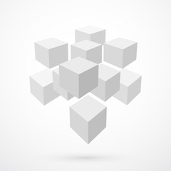 Cubes, abstract background