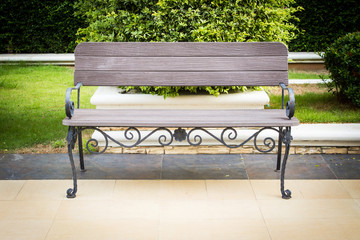 Bench Decorated In The Garden