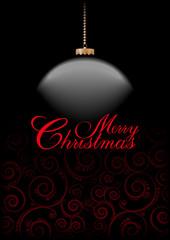 Christmas card minimalist template