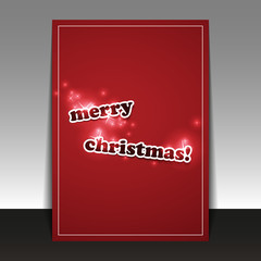 Christmas Card - Flyer or Cover Design Template