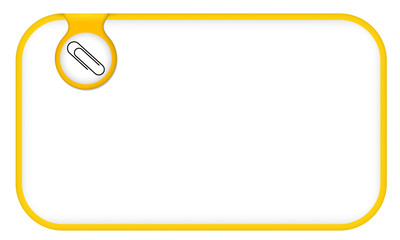 yellow text frame for any text with paper clip