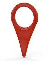 Blank orange location mark icon
