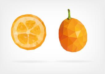 Low Poly Kumquat fruit