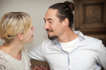 Beautiful couple looking at eachother