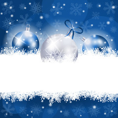 Christmas background in blue with copy space
